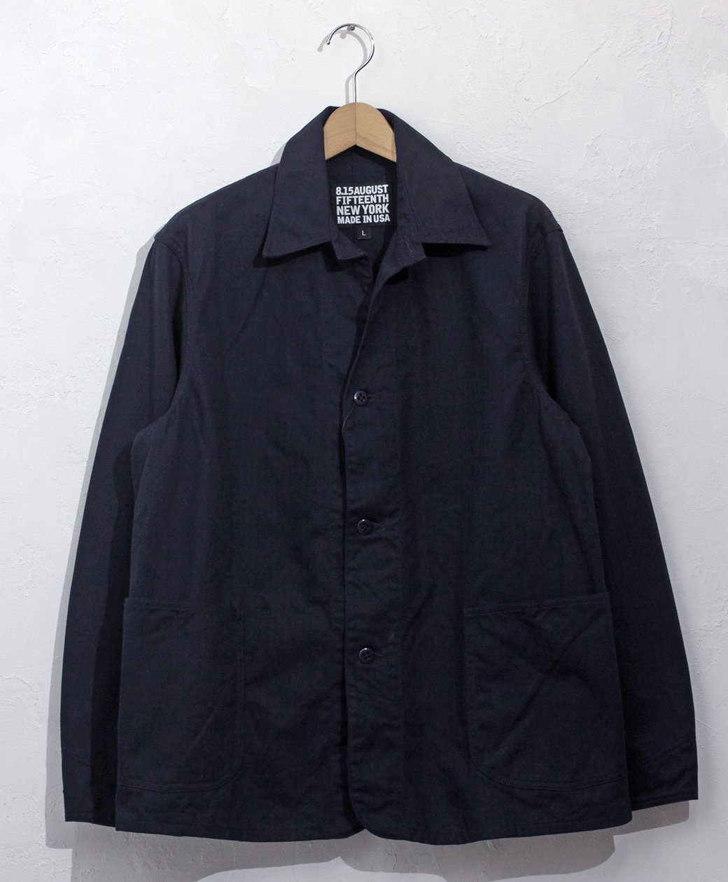 ※1月24日(日)まで!! 2020AW COLLECTION SALE !! 8.15 August Fifteenth INDUSTRIAL COVERALL JACKET(HERRINGBONE TWILL)