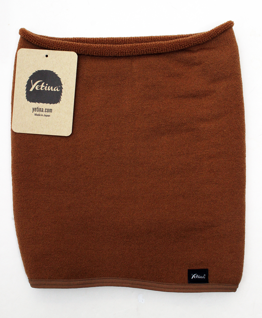 yetina Antarctica merino neck gaiter(orange brown)