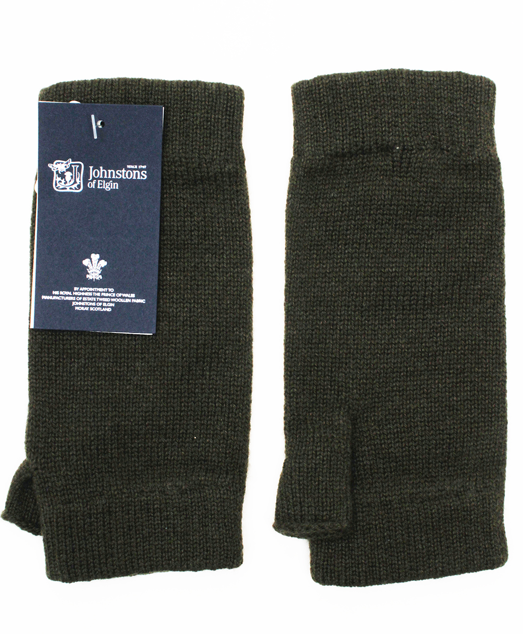 Johnstons of Elgin Wristwaemers(Olive)