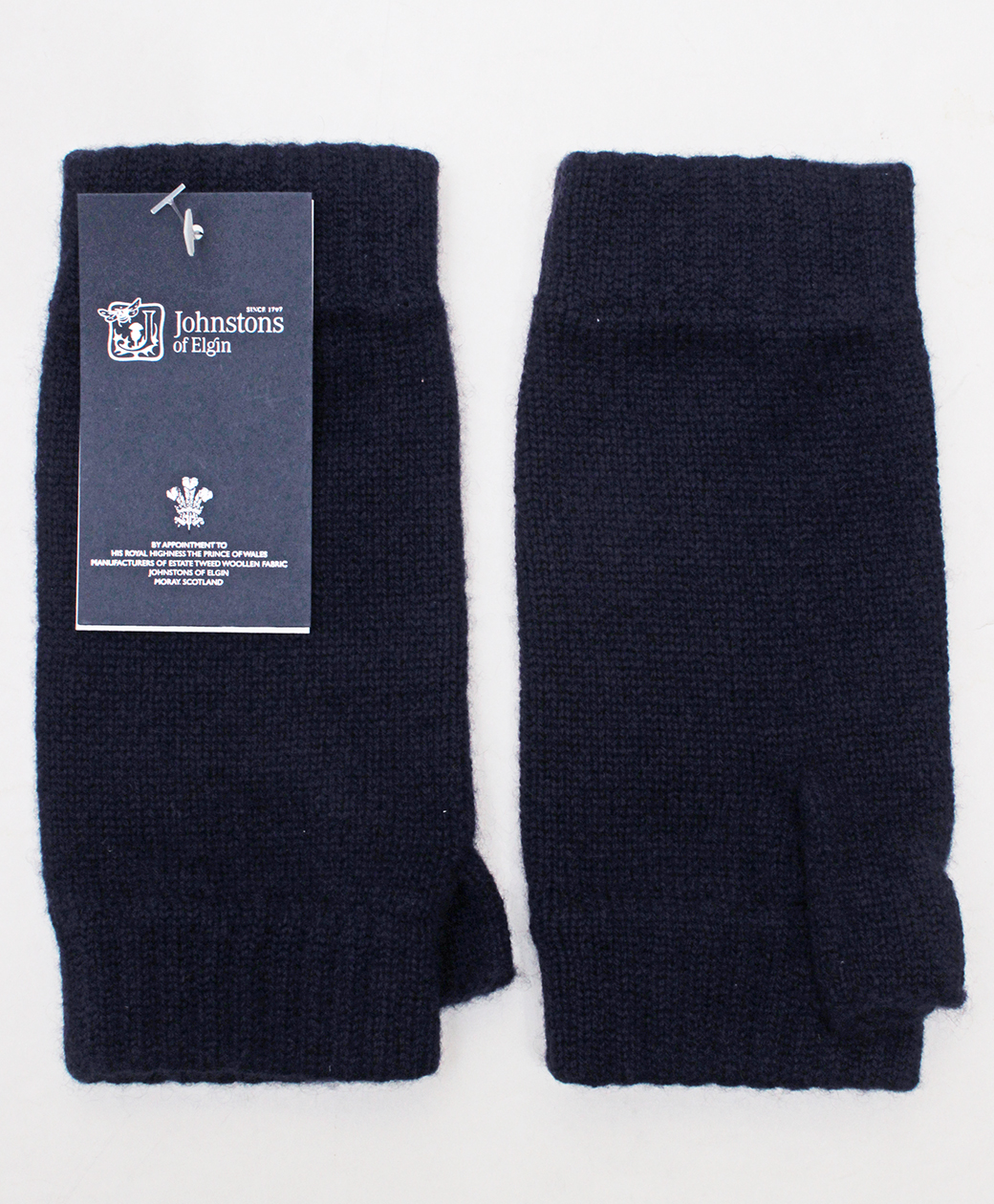 Johnstons of Elgin Wristwaemers(Navy)