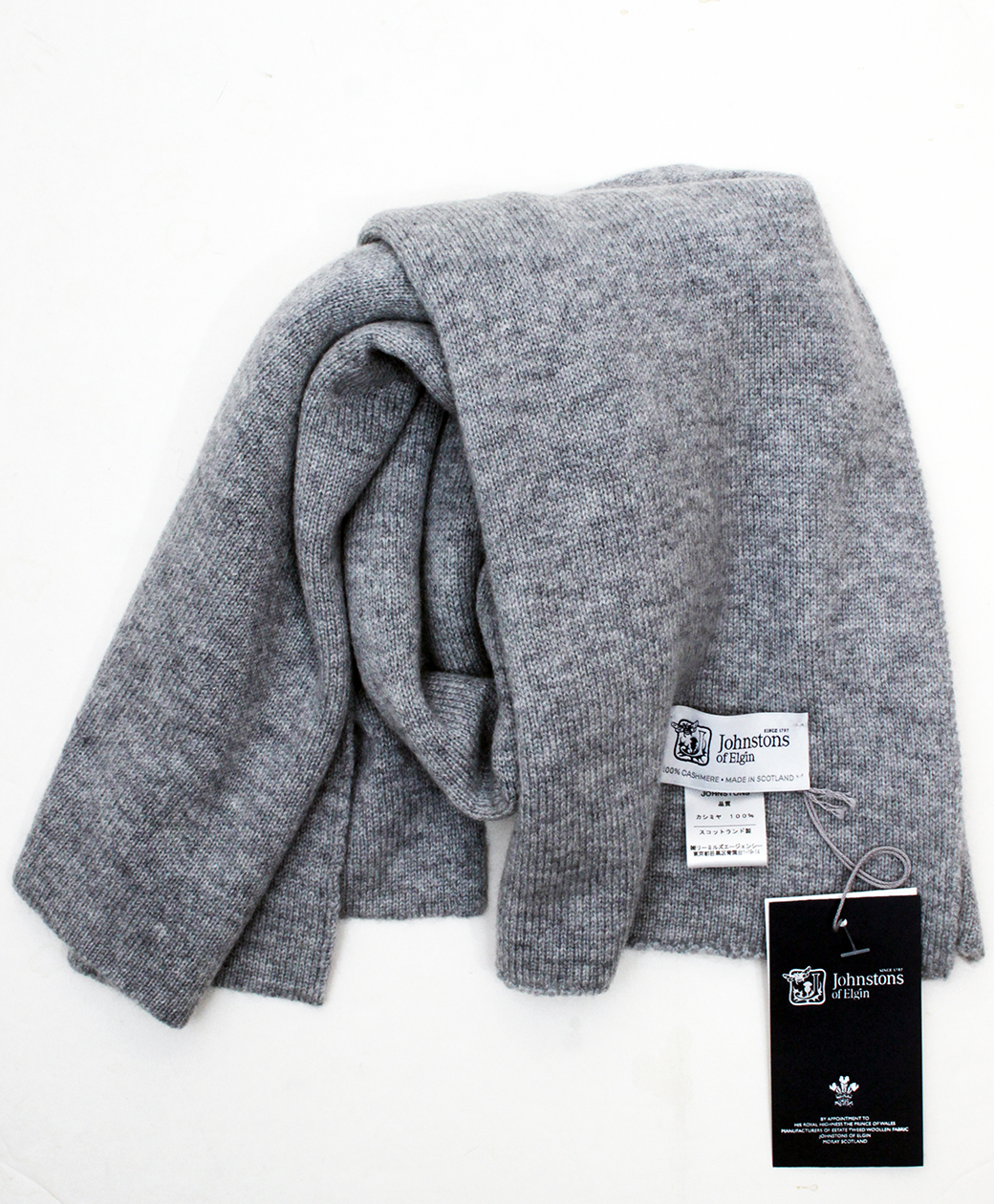 Johnstons of Elgin Short SCARF(Silver)