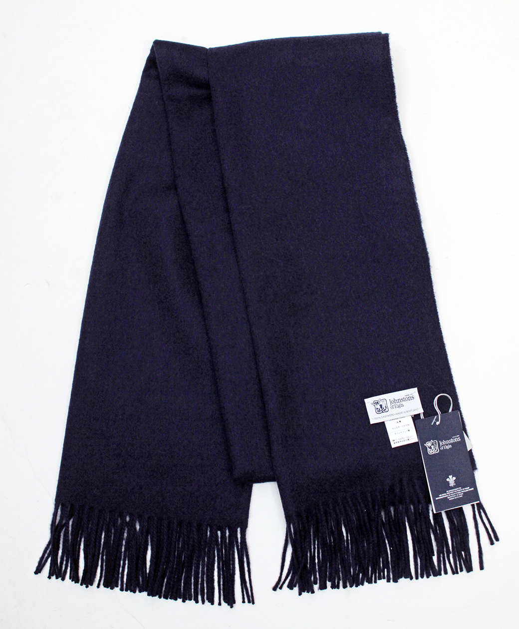 Johnstons of Elgin Cashmere Stole(Navy)