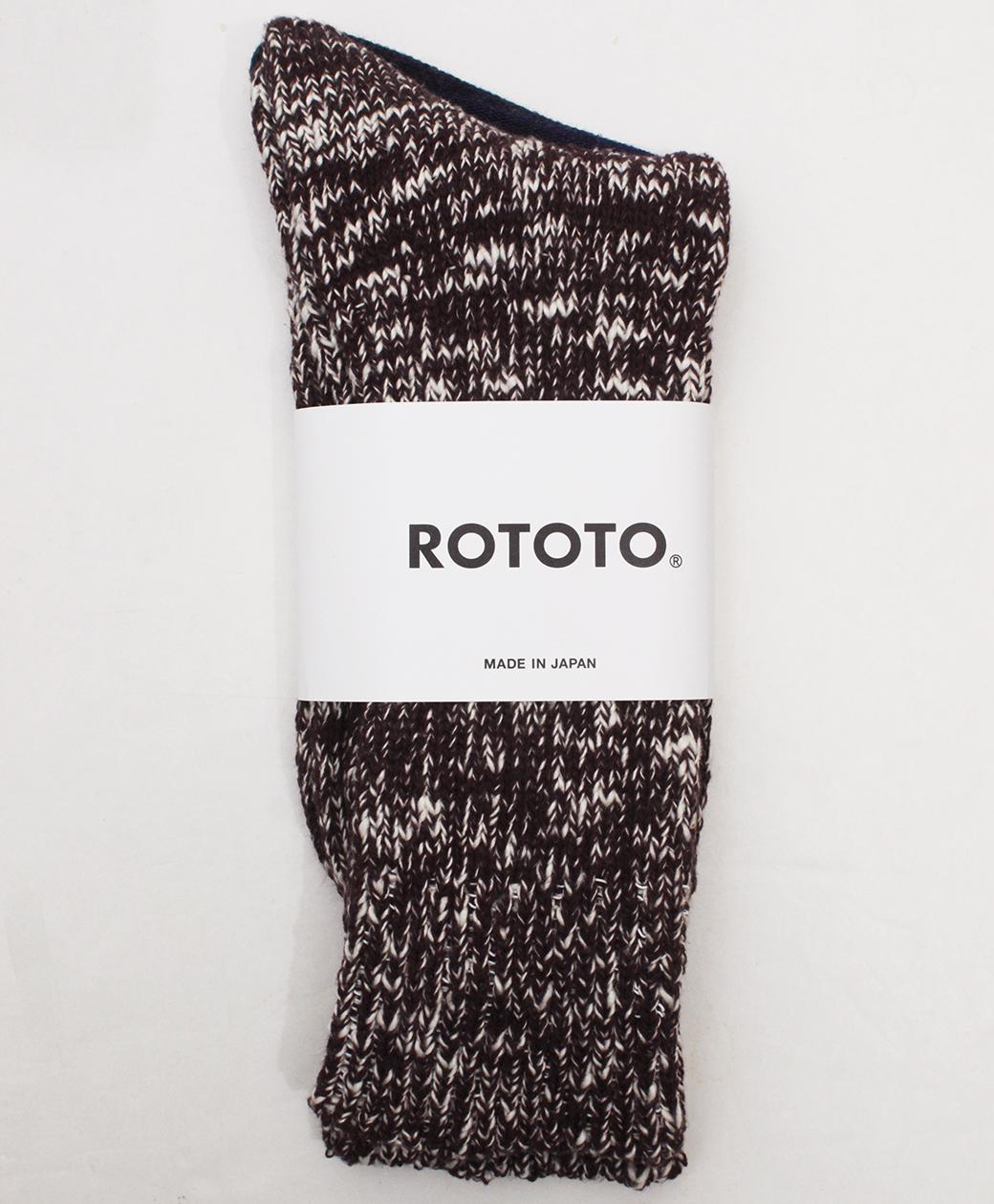 RoToTo LOW GAUGE SLUB  CREW SOCKS(BURGUNDY)
