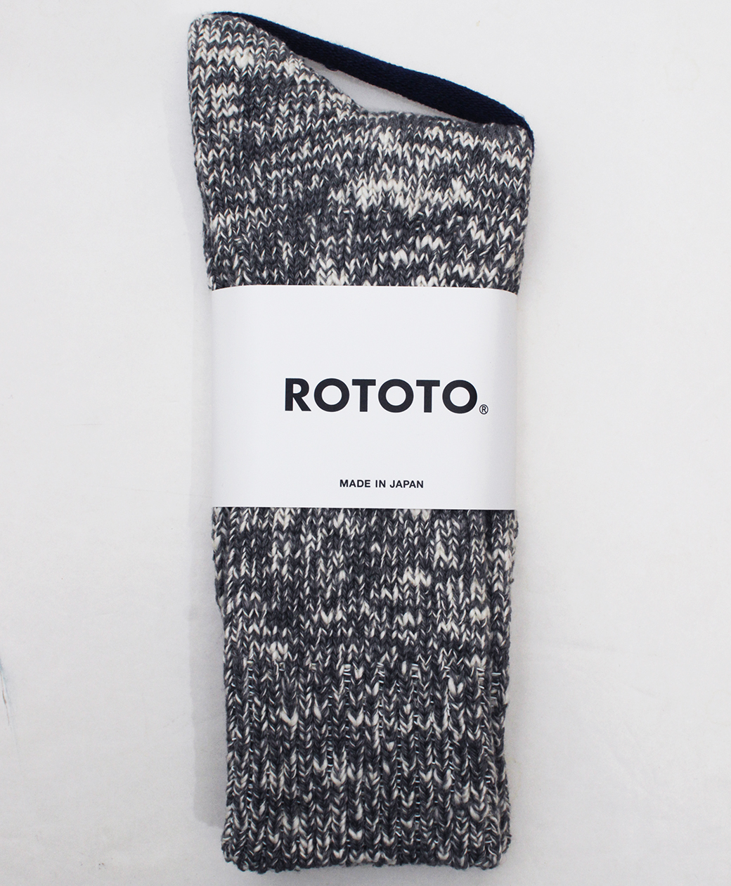 RoToTo LOW GAUGE SLUB  CREW SOCKS(M.GRAY)