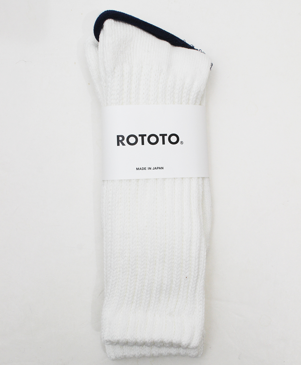 RoToTo LOOSE PILE CREW SOCKS(WHITE)