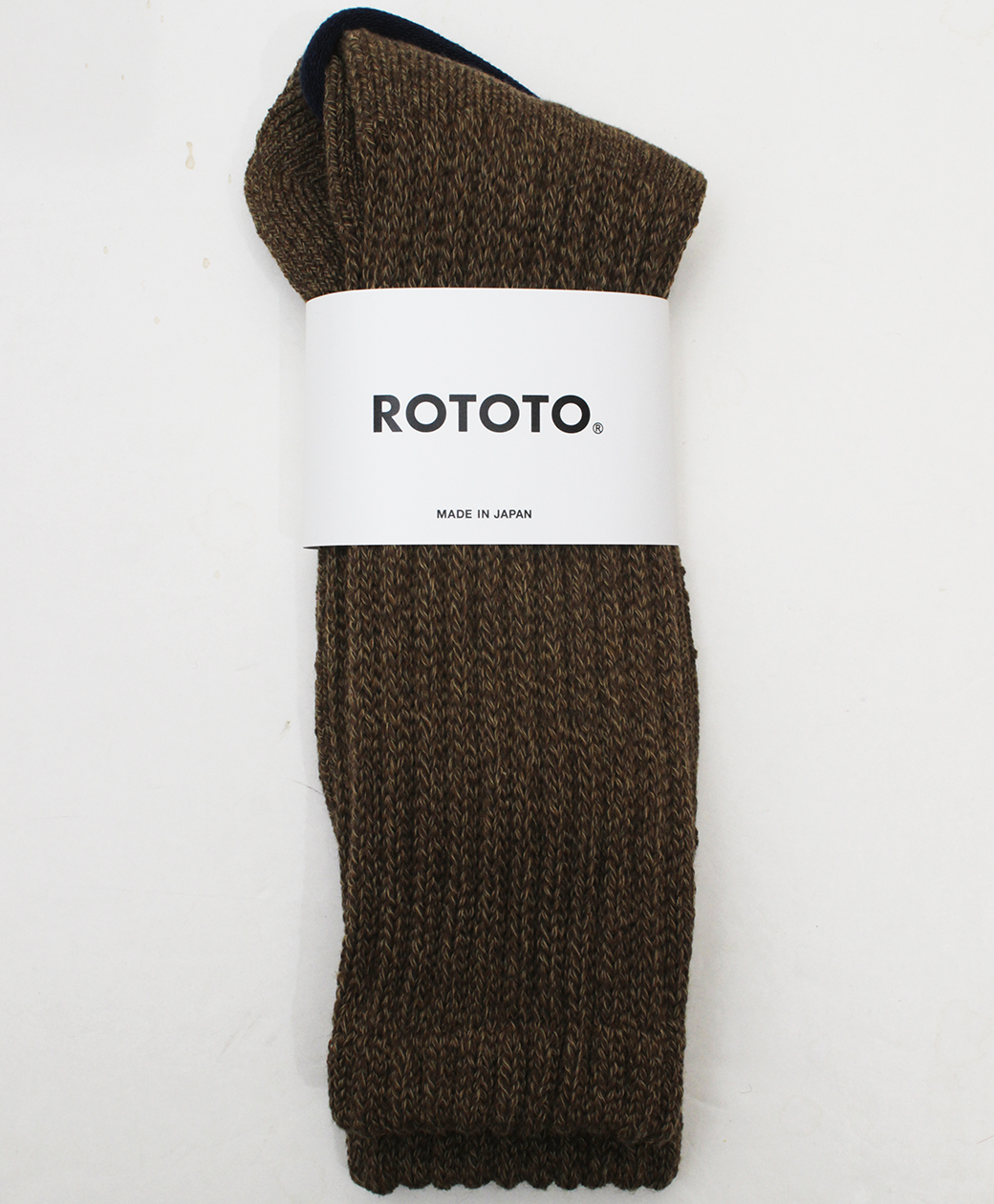 RoToTo LOOSE PILE CREW SOCKS(MIX BROWN)