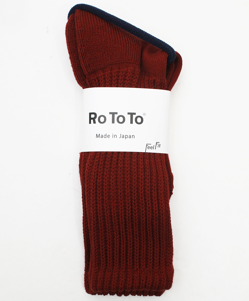 RoToTo LOOSE PILE CREW SOCKS(RED)