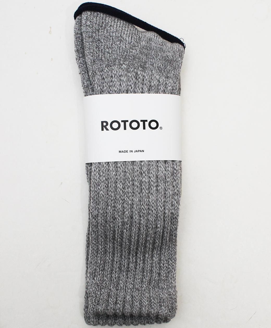 RoToTo LOOSE PILE CREW SOCKS(MIX GRAY)