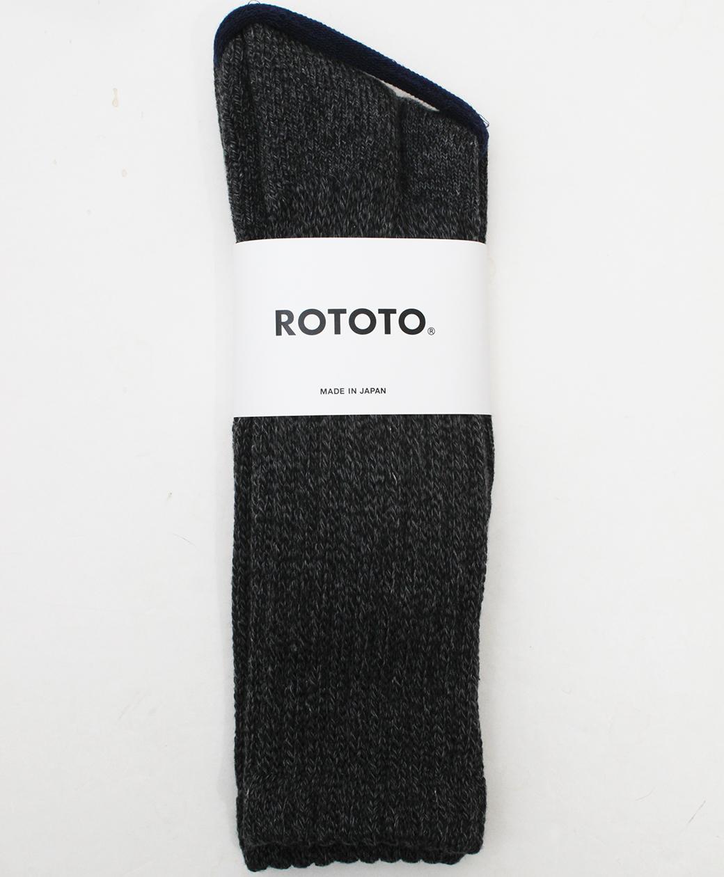 RoToTo LOOSE PILE CREW SOCKS(CHARCOAL)