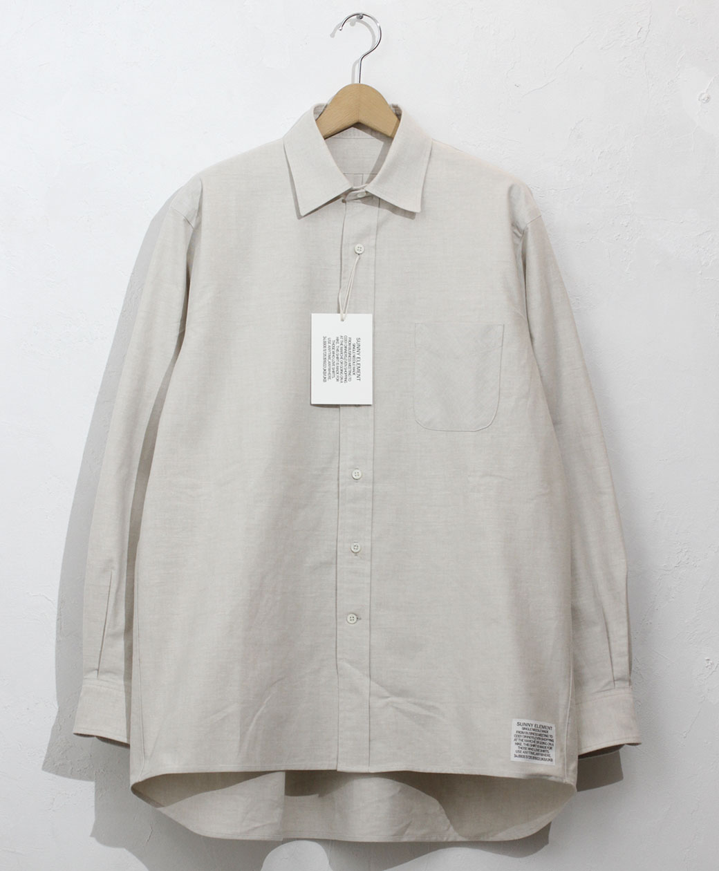 SUNNY ELEMENT Sleeping Shirt(Beige)