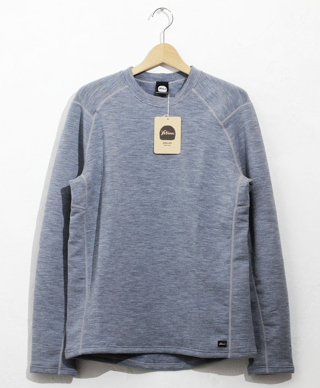 yetina light crew neck(heather blue)