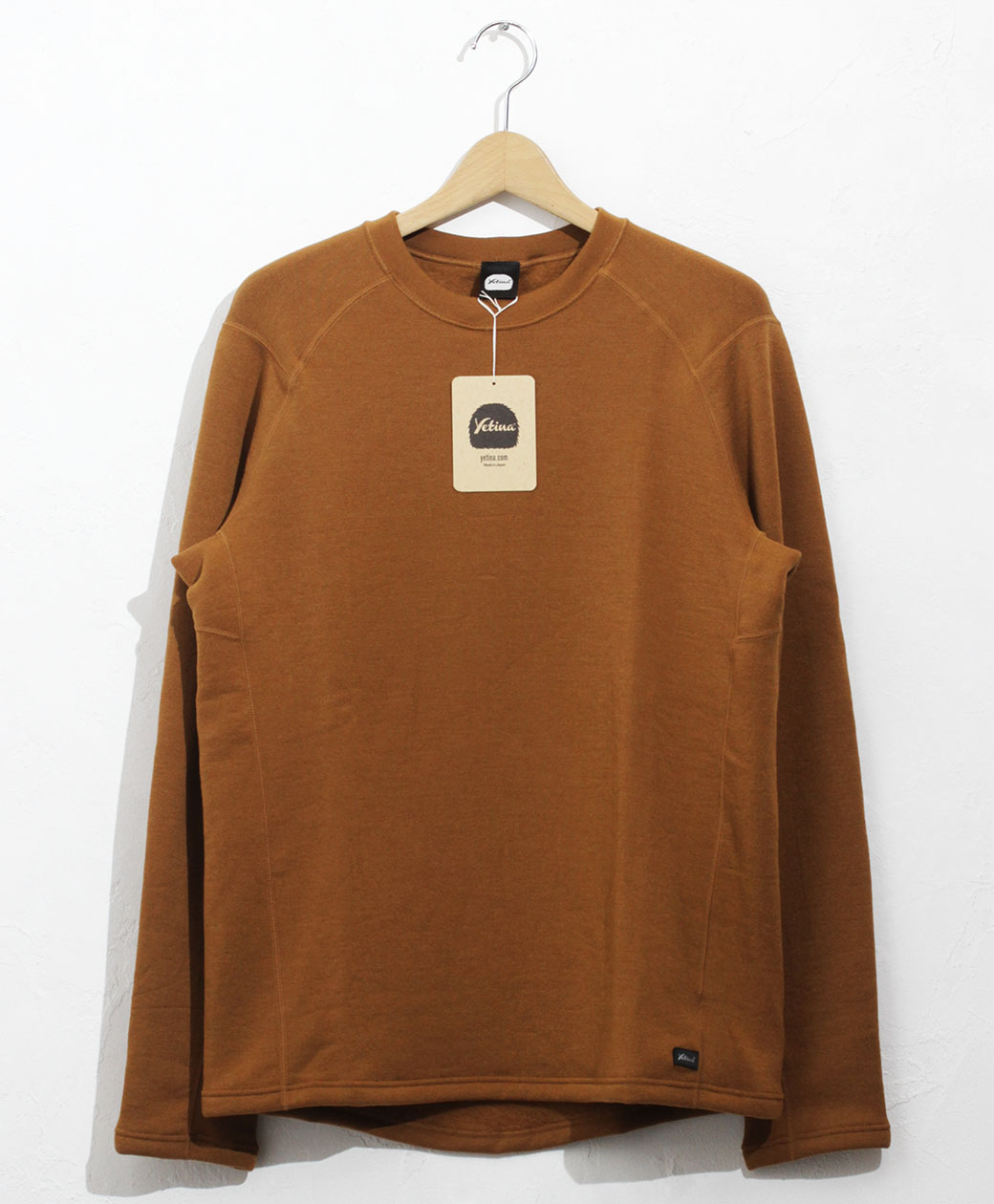yetina light crew neck(orange brown)