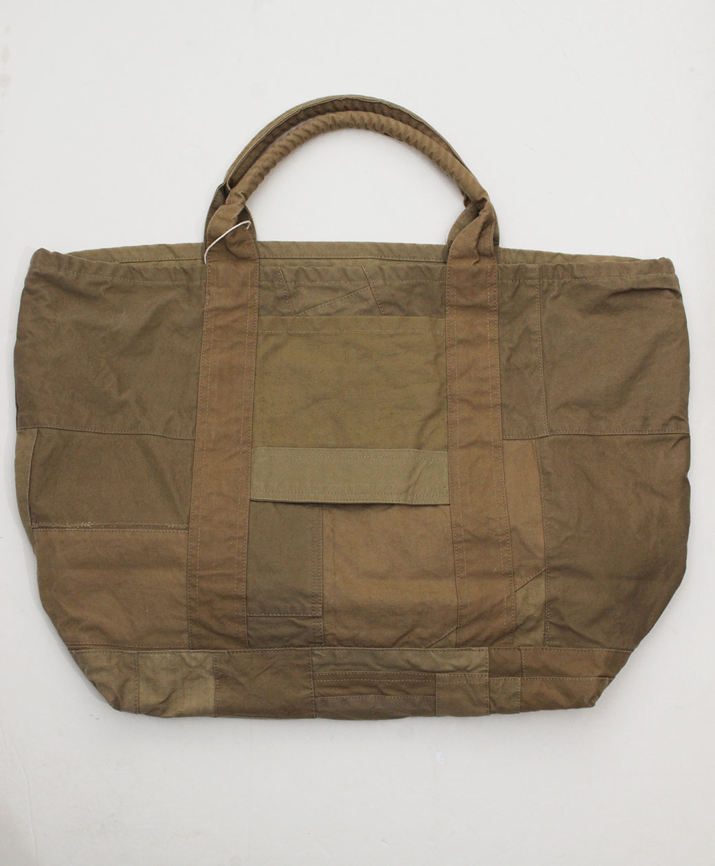 hobo COTTON FRENCH ARMY CLOTH PATCHWORK TOTE BAG L(BEIGE)