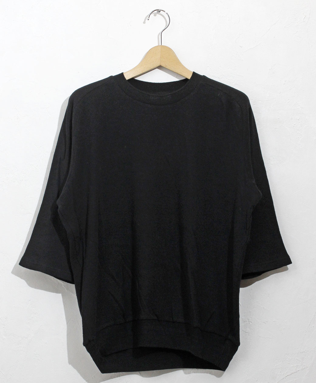flistfia 3/4 Sleeve Sweater(Mad Black)