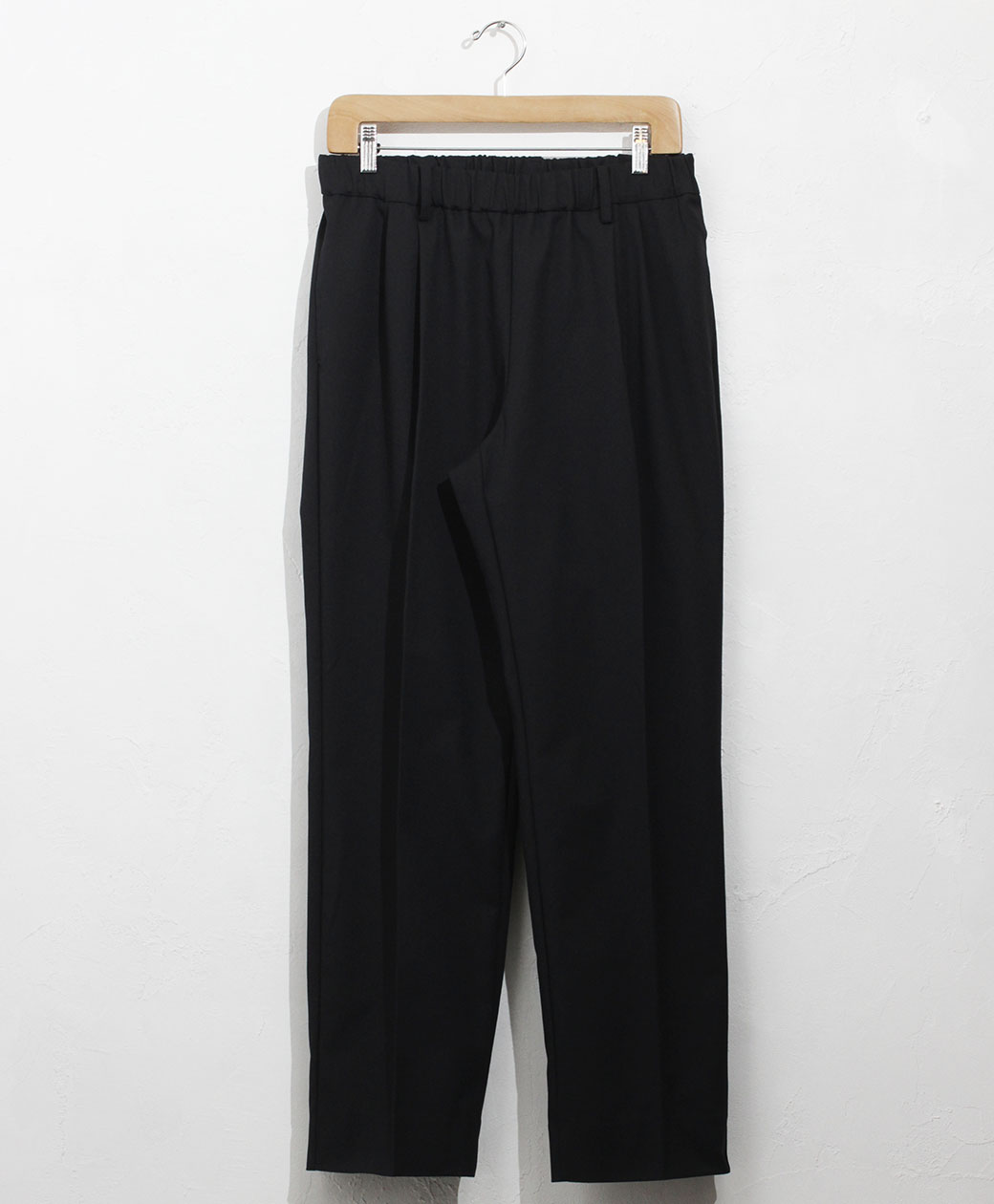 flistfia Wide Tuck Trousers(Mid Navy)
