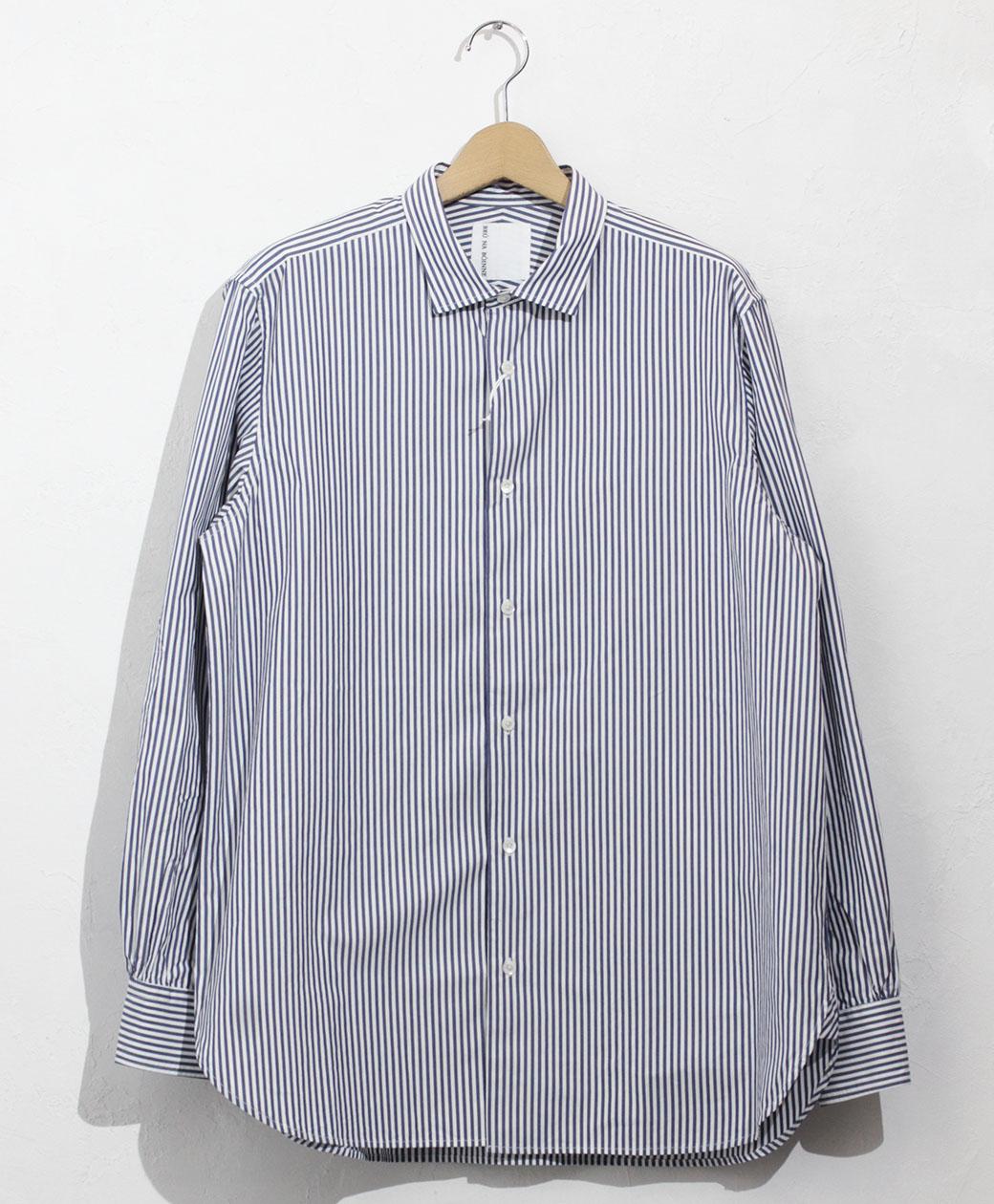 BRU NA BOINNE くしゅっとSPシャツ(ストライプ)