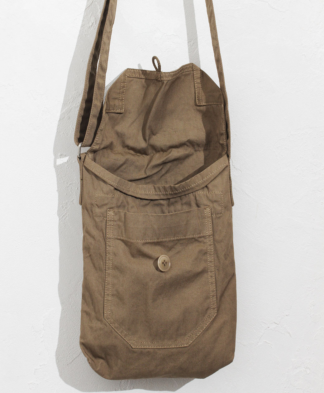 hobo COTTON TWILL COFFEE DYED SHOULDER BAG