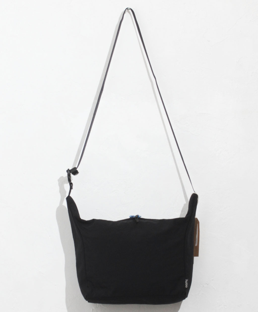 hobo NYLON TUSSAH SHOULDER POUCH(BLACK)
