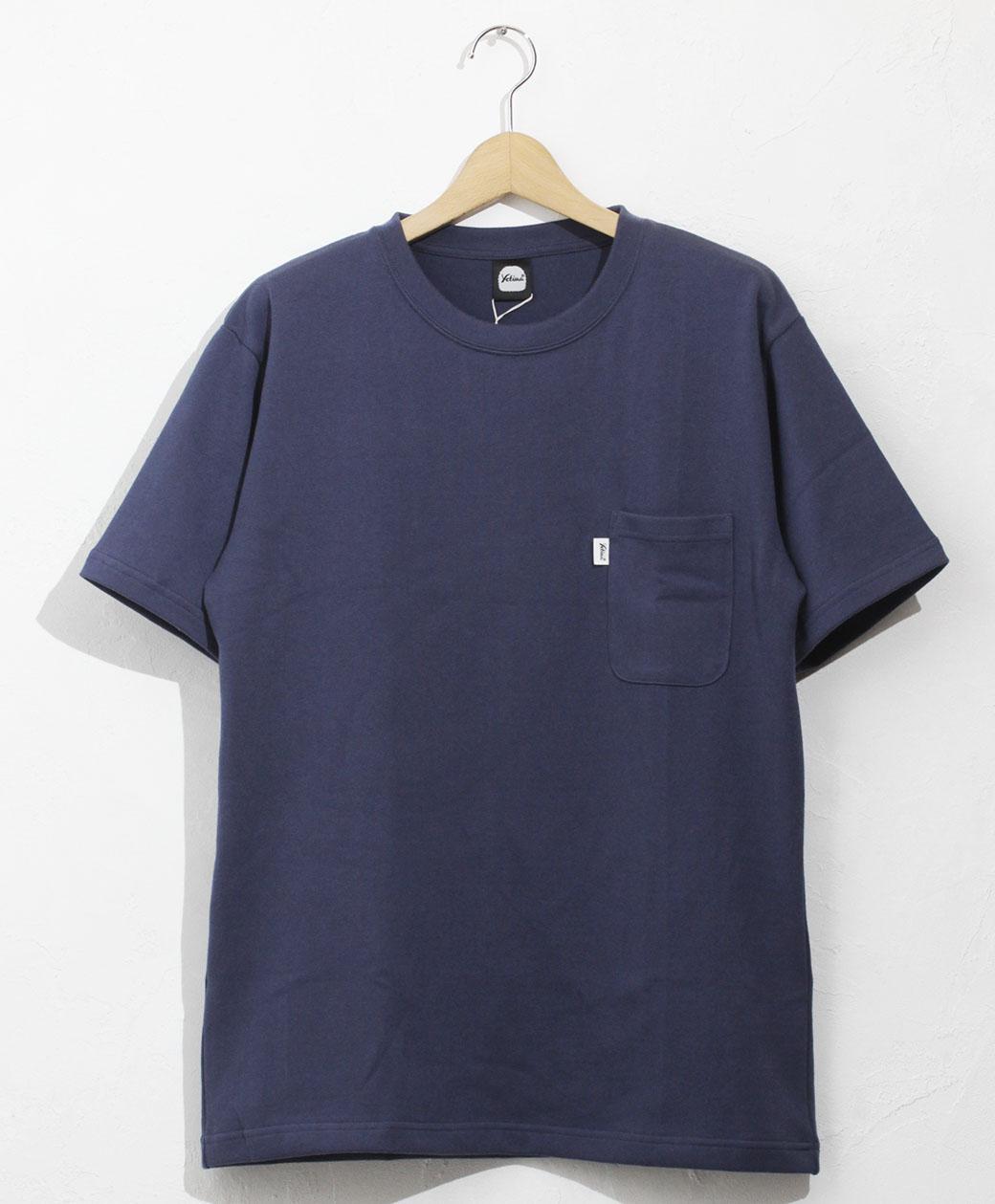 yetina heavy weight cotton pocket T-shirt(bal blue)