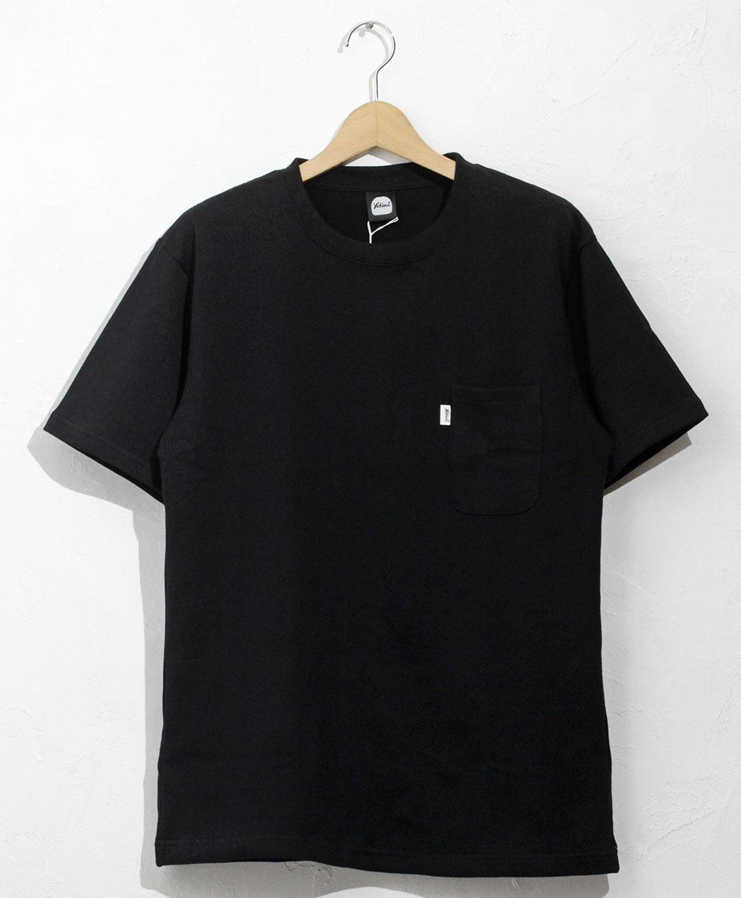 yetina heavy weight cotton pocket T-shirt(black)