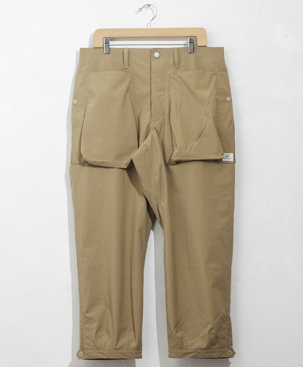 SASSAFRAS Digs Crew Pants 4/5(Nylon Oxford)