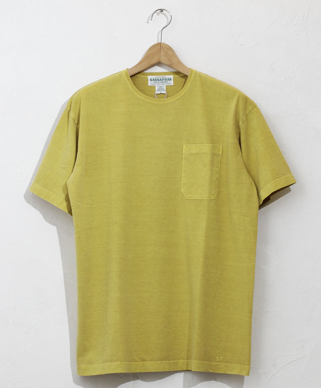 SASSAFRAS Chop Corner Pocket T 1/2(Yellow)