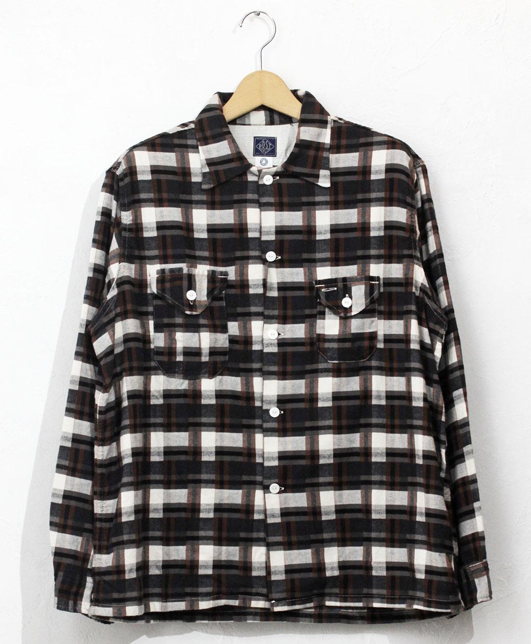 POST O'ALLS #3209 E-Z Cruzer CF7 / cotton flannel plaid grey x brown