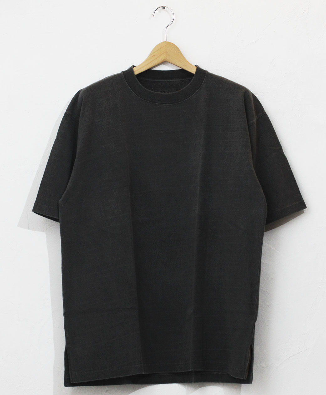 hobo ARTISAN S/S CREW NECK TEE COTTON HEAVYWEIGHT JERSEY CHARCOAL DYED