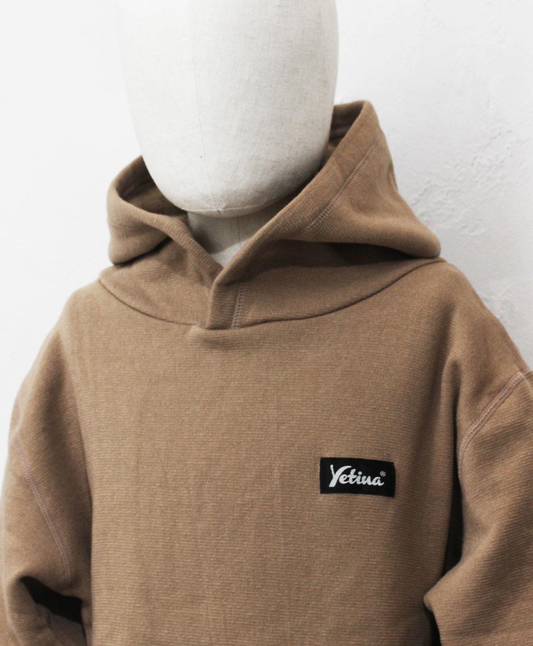 yetina kids pullover hoodie(wood khaki)
