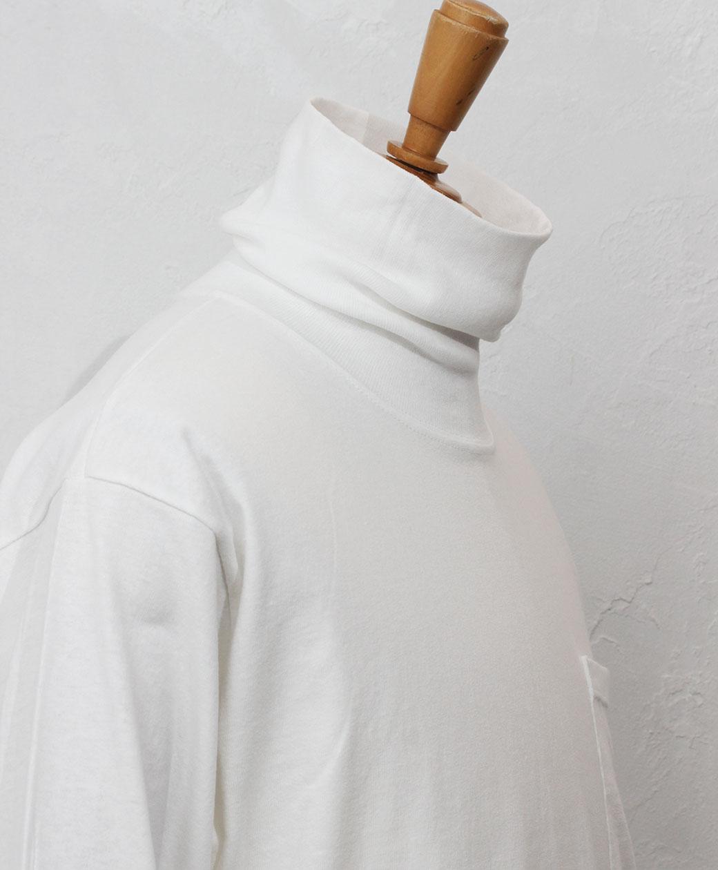LIFEWEAR TURTLE NECK LONG SLEEVE T-SHIRT(WHITE)