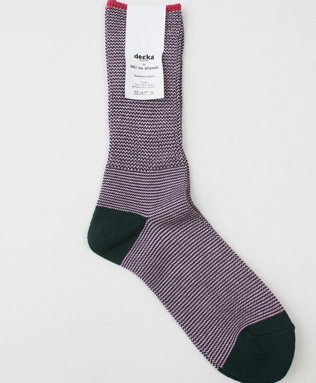BRU NA BOINNE Double Knit Socks(PURPLE)