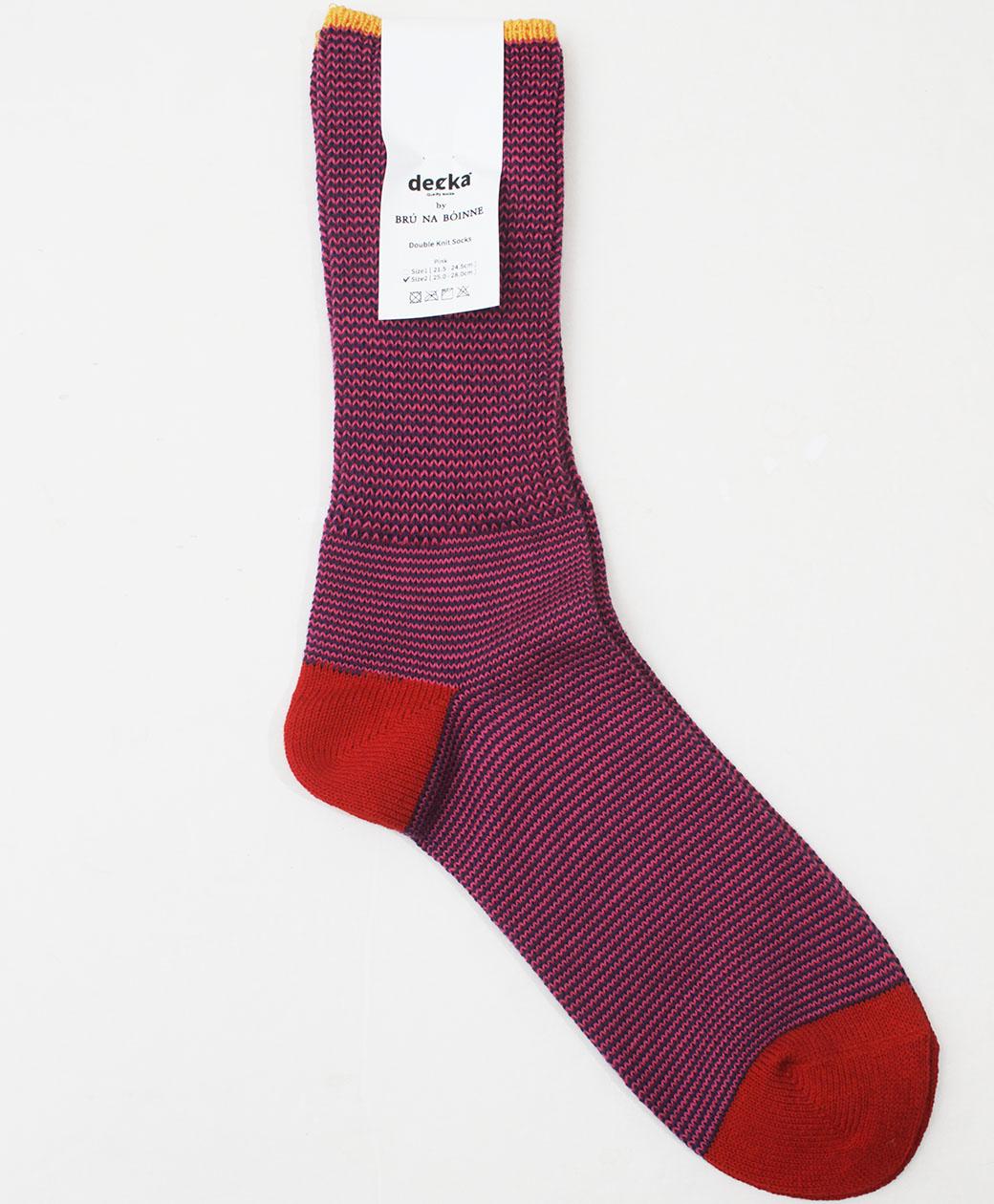 BRU NA BOINNE Double Knit Socks(PINK)